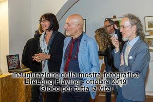 inaugurazione lifelong playing mostra di foto sul gioco